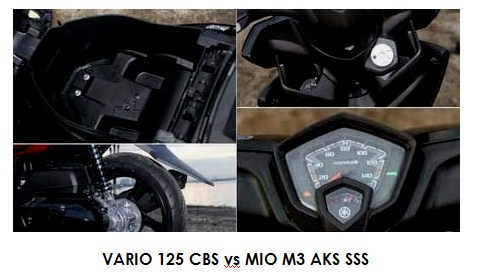 VARIO 125 CBS vs MIO M3 AKS SSS